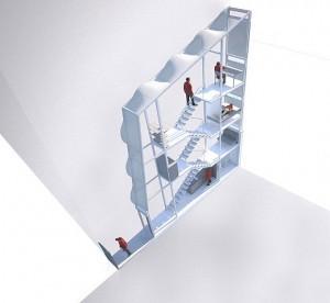 арт проект, проекты узких домов, узкий дом