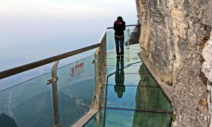 путь в горах, Китай, стеклянный путь,  экстрим, Китай, горы, путешествия,